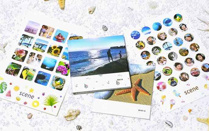 新商品フォトブックとフォトシールの画像