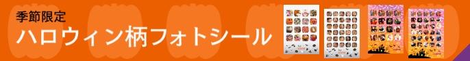 ハロウィン限定かぼちゃ形フォトシール